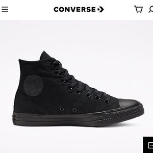 Black Converse High Top Unisex Sneakers